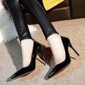 2017 Европейской и Американской моды каблуки женская обувь сексуальная ночной клуб Отметил красный высокие каблуки насосы