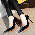2017 European and American fashion heels women shoes sexy nightclub Pointed red high heels pumps