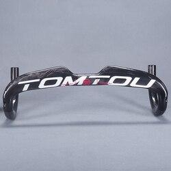 TOMTOU Road kierownica rowerowa UD najlżejszy rower węglowy kierownica rowerowa 31.8*400/420/440mm - TR4T65