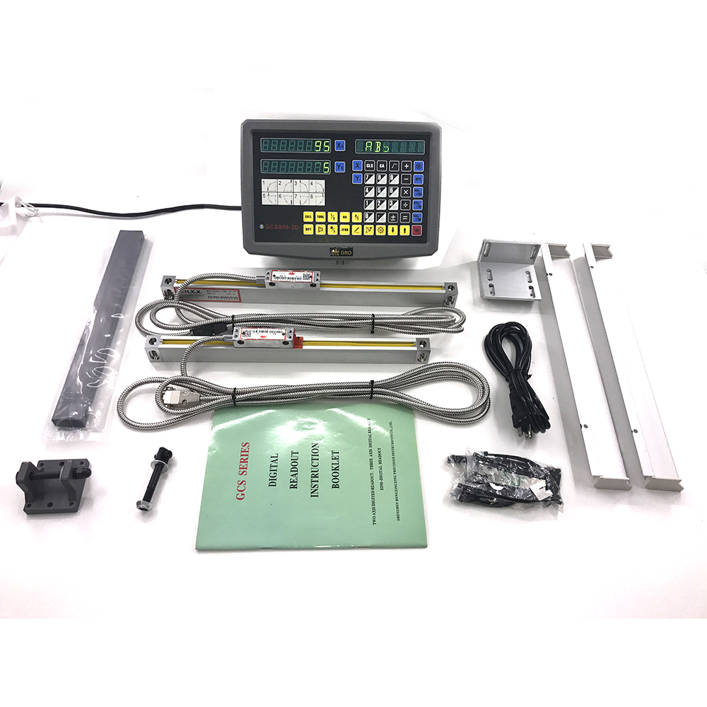 High Precision Linear Sensor 2 Axis Linear Scale DRO Digital Readout for 3# Milling Machine Grating Ruler 400mm & 850mm high precision linear displacement grating ruler ttl signal measurement distance 50mm 600mm reset precision 1um