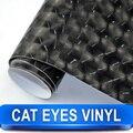 Улучшенный Дизайн Экстерьера Автомобиля Кошка Глаза Черные Глаза Винил Обернуть 1.52 Х 30 Метр Черный