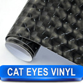 Superior Car Exterior Styling Cat Eyes Black Eye Vinyl Wrap 1.52 X 30 Meter Black