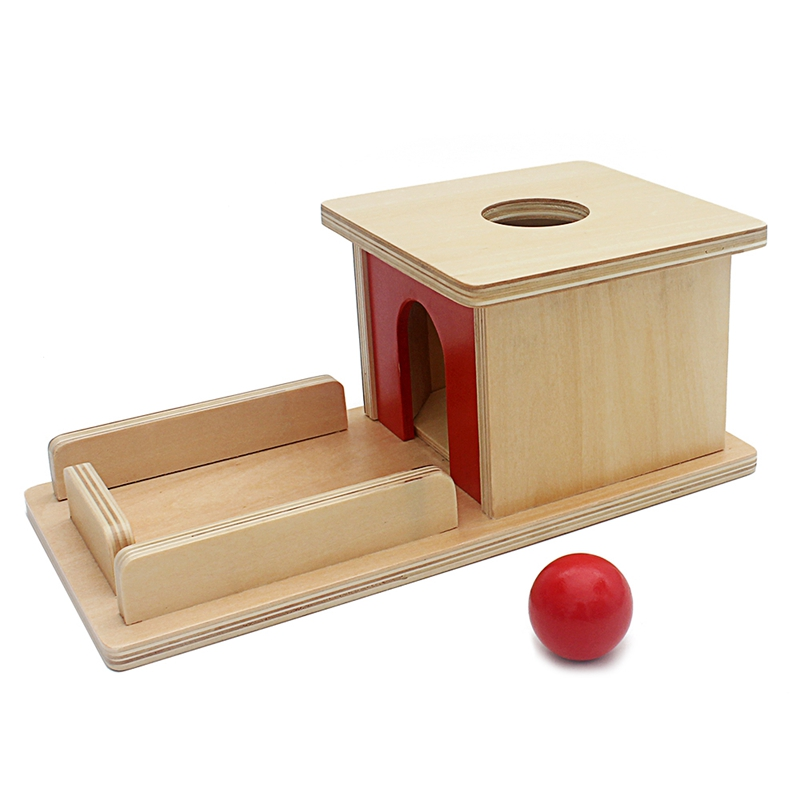 Infant Toys Montessori Materials Baby Wood Permanent Goal Box Red Ball Learning Education Preschool Training Brinquedos JuguetsInfant Toys Montessori Materials Baby Wood Permanent Goal Box Red Ball Learning Education Preschool Training Brinquedos Juguets