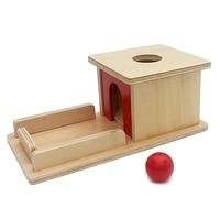 Infant Toys Montessori Materials Baby Wood Permanent Goal Box Red Ball Learning Education Preschool Training Brinquedos Juguets