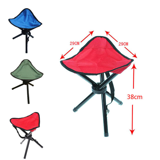 3 Legs Tripod Folding Stool Chair Outdoor Camping Hiking Fishing Triangle  Tripod Seat Ultralight Fold Chair