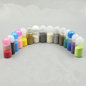 Image 2 - Tłoczone proszku, 10 ml 7 butelek/8 butelek/15 butelek zestaw tłoczenie w proszku DIY farby pieczątka scrapbooking narzędzia