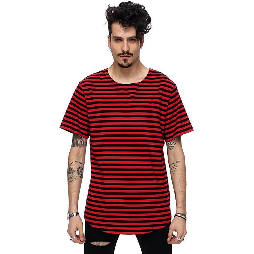 Nuevo 2018 calle de moda de verano camiseta de los hombres de la - Ropa de hombre - foto 3