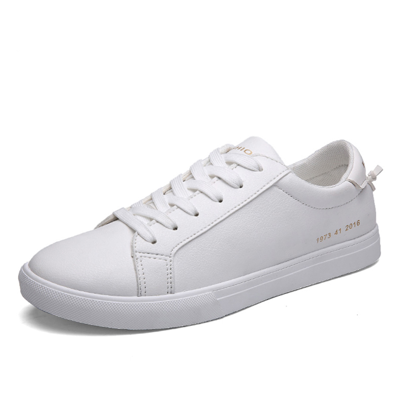 Unisex White Casual Leather Womens Shoes Plus Size Leather Flats Women Trainers Shoes Zapatillas Mujer Size