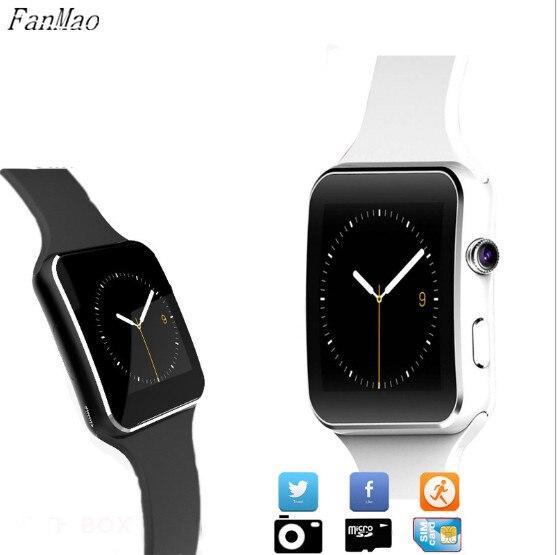 ФОТО X6 Smart Watch Camera On Wrist Message Call Bluetooth Wrist Watches For Android IOS XiaoMi Huawei Sony SIM/TF Sleep Tracker