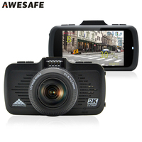 AWESAFE 2 In 1 Car DVR Camera Ambarella A7LA50 GPS With Speedcam Super Full HD 1296P