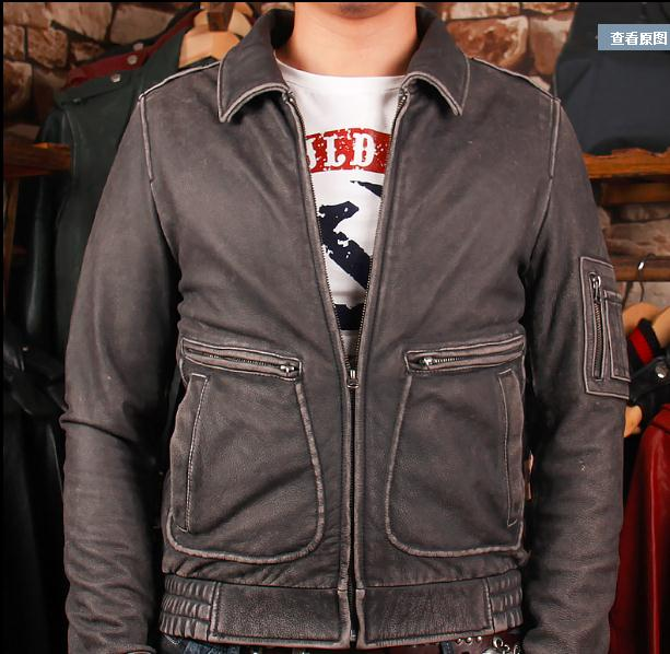 Free shipping. plus Gift Brand clothing men vintage cow leather Jackets men's genuine Leather casual jacket.homme Fitness sales dhl free shipping brand clothing cow leather long jackets men s genuine leather black casual jacket fashion classics