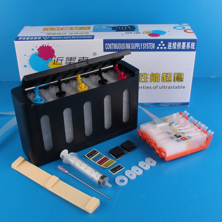 Universal 5Color Continuous Ink Supply System CISS kit with accessaries ink tank for CANON MG5470 MX727 MX927 iP7270 Printer