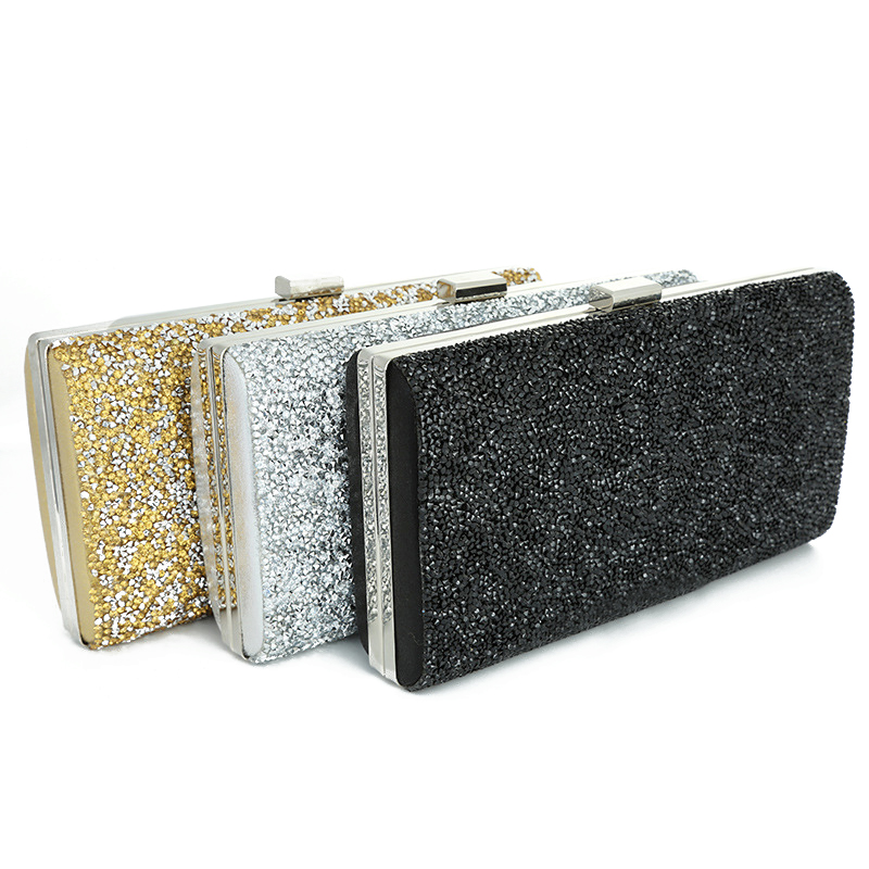 2019 New Women Evening Clutch Bag Diamond Sequin Clutch Female Crystal Day Clutch Wedding Purse Party Banquet Beauty Essentials(China)