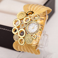 Fashion Brand Watch Women Luxury Gold Alloy Mesh Belt Dress Watches Women Gold Bracelet Watch Female Alloy Quartz Wristwatches