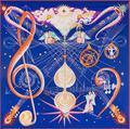 Marca de lujo de Seda de la Tela Cruzada Pura Bufanda de la Nota Musical Pentagrama Ángel Racks Patrón Cuadrado 130 cm Pashmina Chal Wraps Bufandas Fulares