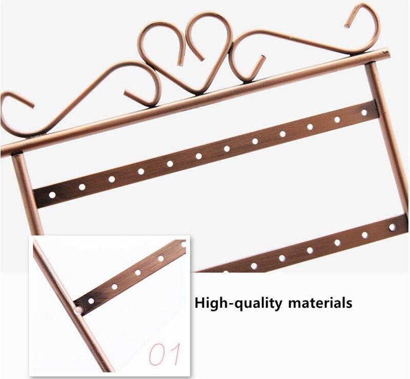 New Iron Earring Holder 48 Holes Multifunction Earrings Stand ...