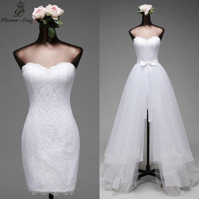 Poemssongs high quality Mermaid Wedding dresses and detachable train Fives layers of silky organza vestido de