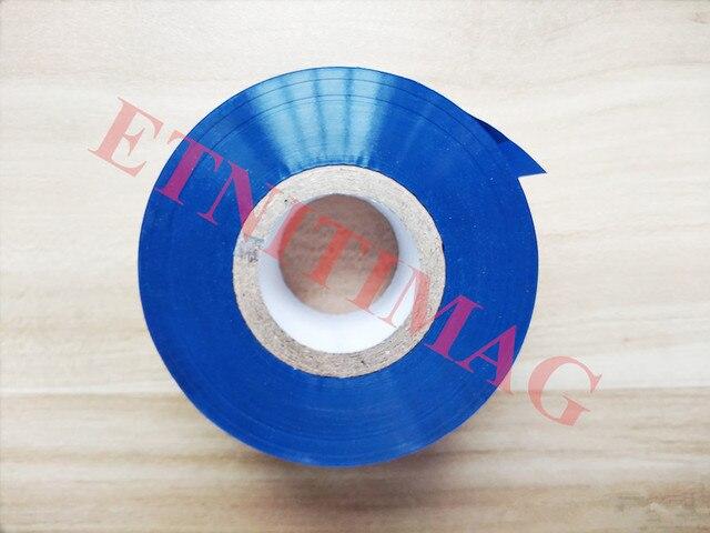 Máquina de estampación en caliente HP-241 cinta de tinta azul de transferencia térmica 30x100m para máquina de codificación de fecha HP-241B, HZ30, 241b-241s.tj-08