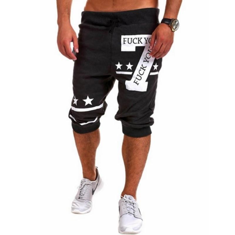 Shorts Mens Bermuda 2018 Men 7 Digital Pentagram Print Beach Hot Cargo Men Boardshorts Male Brand MenS Short Casual Fitness