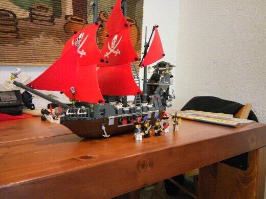 Модель Строительство комплекты Совместимость с lego city Пираты корабль king 3D блоки Развивающие модели здания игрушки хобби для детей