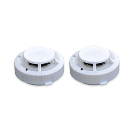 2 pçs/lote Standalone Alarme de Fumaça Sensor de Alarme de Incêndio Detector de Fumaça de Cigarro Home Office Segurança Siren Avisar Sensor w/9 V Bateria