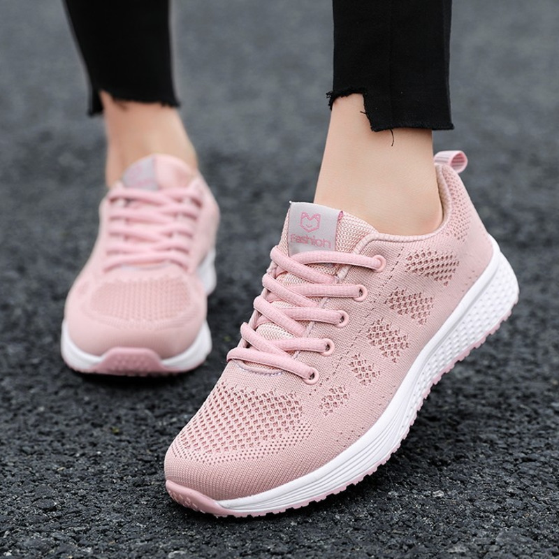 Women's Sport Shoes Female Brand Sneakers Woman Running Shoes Breathable Antislip Light Flat Gym Jogging Outdoor Ladies Footwear(China)