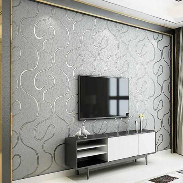 3d Papel Pintado Moderno Simple No Tejido Papel Pintado Dormitorio
