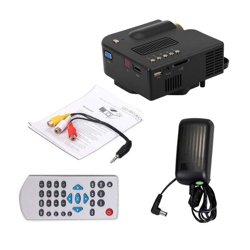 ФОТО DHL Free shipping UNIC UC28+ LED Mini Portable video Projector for Home Theater with HDMI /VGA/SD/USB  video projector Full HD