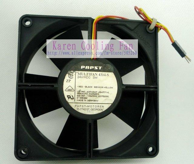 Ebm Papst 12cm 12032 24v 5w Multi Fan 4314s 3 Wire Typ4314