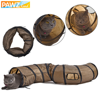 Drop Shipping Cat Toys Hot Sale Tunnel Long 1 2M Lovely Fun Design 2 Windows And
