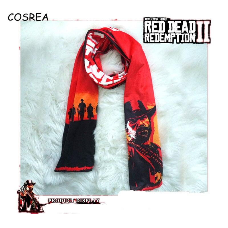 Red Dead Redemption 2 Scarf Women Winter Scarf for Girls Neckwear Neckcloth Winter Scarves Women Cosplay Costumes