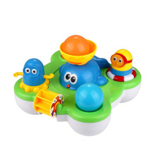 Baby Fountain Bath Toy For Children Douche Kids Electric Floating Spraying Water Cartoon Toys beiens water baby floating toy bath toys for children bathroom toy new year gift