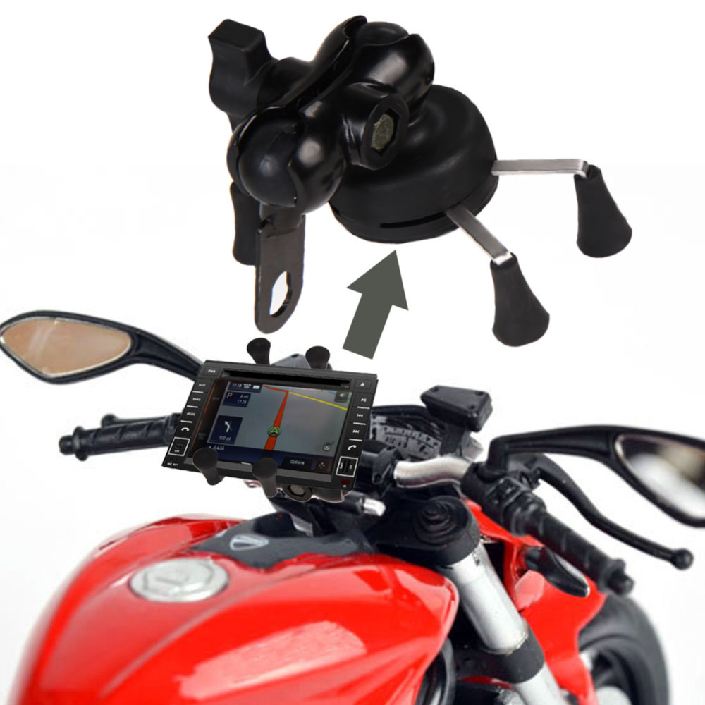Universal <font><b>Mobile</b></font> Cell <font><b>Phone</b></font> Bicycle <font><b>Motorcycle</b></font> <font><b>Handlebar</b></font> <font><b>Mount</b></font> Cradle <font><b>Holder</b></font> With USB <font><b>Phone</b></font> Charger for iPhone Samsung <font><b>GPS</b></font>