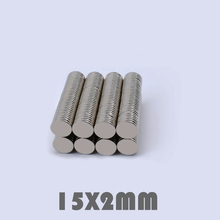 20/50/100Pcs 15x2 mm Neodymium Magnet Strong Round N35 15*2 Search Rare Earth Magnets For Crafts Gallium Metal