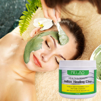 Face Mask Powder Natural Indian Healing Clay White Deep Skin Pore Cleansing Moisturizing Replenishment Oil Control Shrink Pores 3