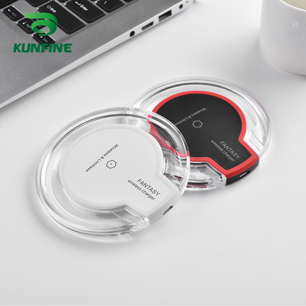 KUNFINE 10W Qi Wireless Charger for iPhone X8 Visible Fast Wireless Charging pad for Samsung S9S9 (2)