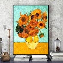 Huacan Diamond Mosaic Flowers Picture Of Rhinestones Handicraft Embroidery Handmade Gift Van Gogh Sunflower