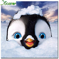 YOGOTOP DIY 5D Diamond Mosaic Penguin Diamond Painting Cross Stitch Kits Diamonds Embroidery Full Rhinestones Home