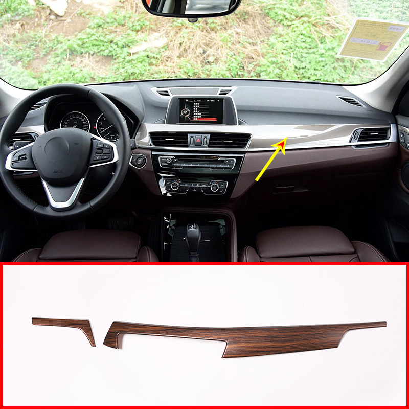 Pine Wood Grain ABS Car Center Console Protection Panel Cover For BMW X1 F48 2016-2018 For BMW X2 F47 2018 Car Parts 2pcs sunbeam 91612 14 durant 14 piece cutlery set with pine wood red