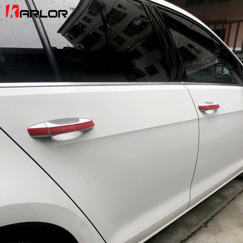 Bescherming Carbon Scratch Film Deurknop Deurklink Pols Sticker Auto Styling Voor VW Volkswagen Golf 7 MK7 Accessoires
