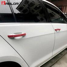 Carbon Fiber Protection Scratch Film Doorknob Door Handle Wrist Sticker Car Styling For VW Volkswagen Golf 7 MK7 Accessories
