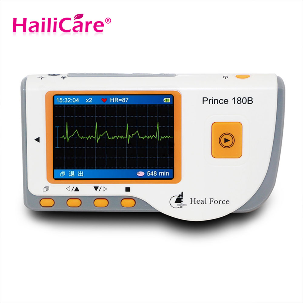 Portable Heart ECG Monitor Software Electrocardiogram CE Health Monitor Rapid ECG EKG Tester Easy Handheld Prince 180B health care ce easy handheld ecg ekg portable mini pc 80b lcd heart ekg monitor continuous measuring function usb