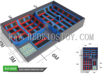 Custom-made Gymnastic Fitness Trampoline Best China Indoor Play-zone Trampoline for Adults HZ-LG020