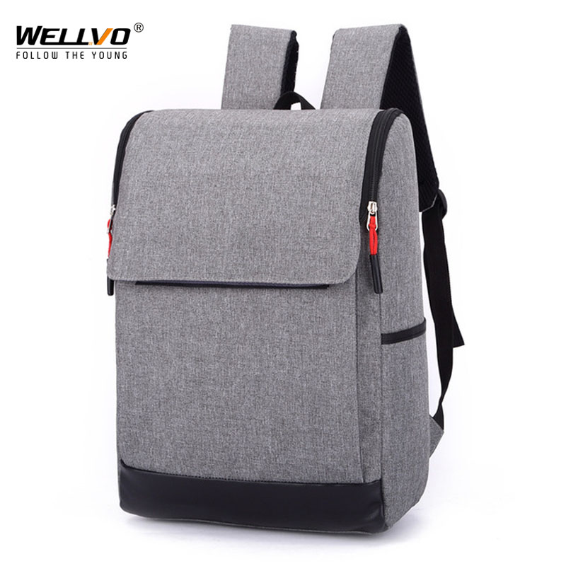 2018 Man Women Canvas Backpacks For Teenagers Travel School Business Bags Solid Color Mochila Ruscksack Escolar Mujer XA2072C