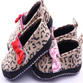 Fashion Leopard Baby Girls Princess First Shoes Walkers Cute Lovely Bow Baby Toddler Footwear Kids Zapatos For Bebe 2 Colors