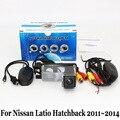 Para Nissan Tiida/Versa Hatchback C11/RCA AUX Cable O Inalámbrica/Visión Nocturna del CCD/HD Lente Gran Angular de Coches Cámara de Visión Trasera
