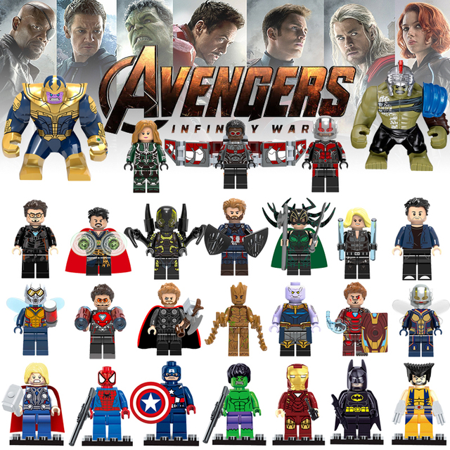 Maravilhas Legoly 4 Hulk Avengers Figuras Thanos Stan Lee Legoed Spiderman Toy Blocos Compatíveis Blocos de Construção DIY Brinquedos para Loly
