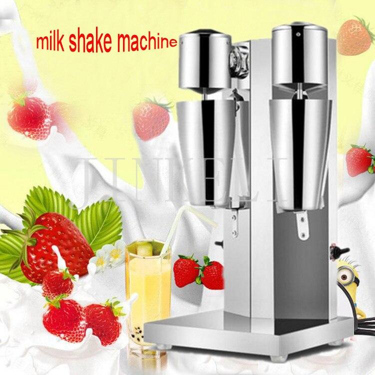 Machine de Milkshake Machine de lait en acier inoxydable double tasses mélangeur de boissons faire des laits mousse/Milkshake Machine à thé à bulles