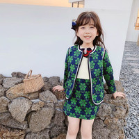 Presale August 5th mother and daughter clothes set baby girls outwear jacket floral pattern green colour kids girls jacket