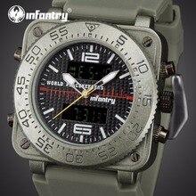 Мужские часы от ведущего бренда, роскошные аналоговые цифровые военные часы, мужские квадратные тактические армейские часы для мужчин, мужские часы